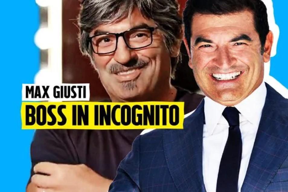 Boss in Incognito, Max Giusti torna in Rai : torno dove ho iniziato!