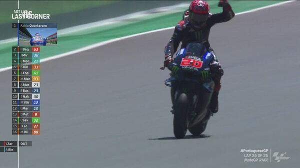 MotoGp Portogallo : Vince Fabio Quartararo (Yamaha)