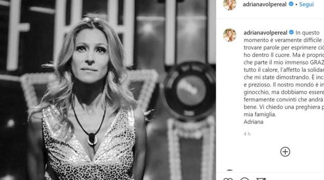 GF VIP, Adriana Volpe : il suocero è morto per il Coronavirus
