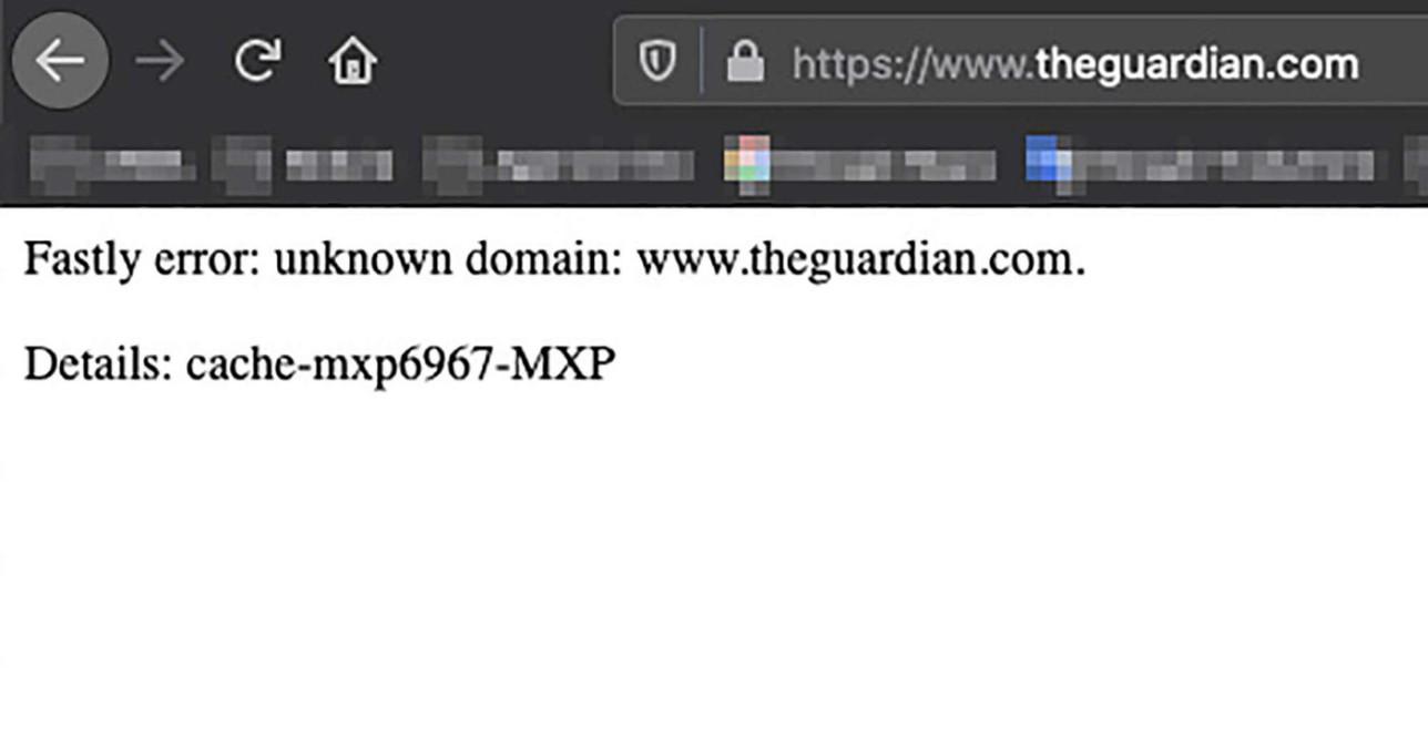Offline siti e media internazionali : crash provider Fastly