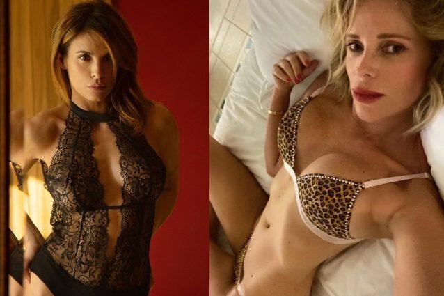 Alessia Marcuzzi e Elisabetta Canalis in intimo sexy per San Valentino