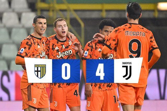 Anticipo Serie A, Parma-Juventus 0-4