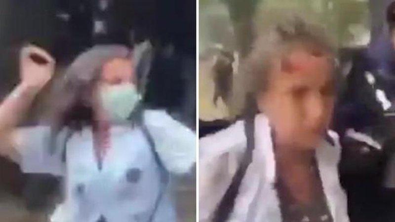 Proteste operatori sanitari : Il violento arresto di un
