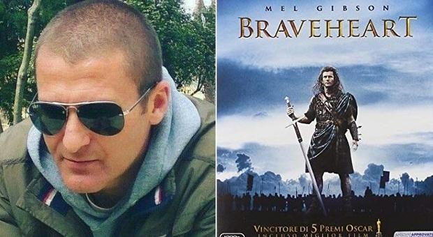 Tifoso basket Roseto morto a 42 anni : il funerale è come il film Braveheart