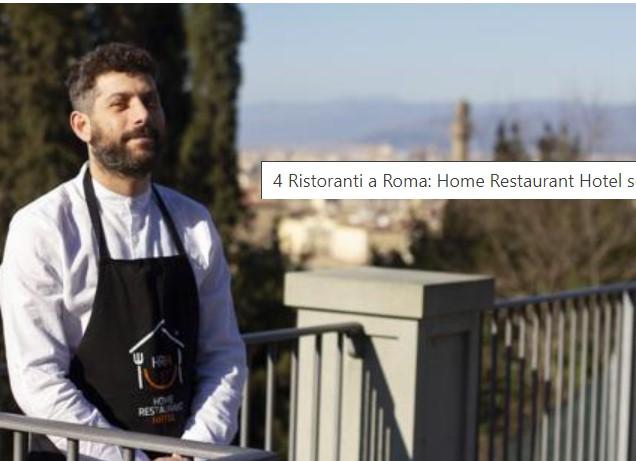 4 Ristoranti a Roma: Home Restaurant Hotel scrive a Borghese riguardo al settore