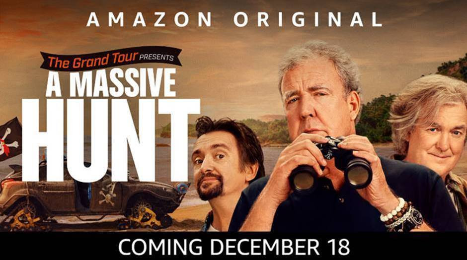 Amazon Prime Video annuncia il lancio di The Grand Tour presents: A Massive Hunt a livello globale venerd? 18 dicembre