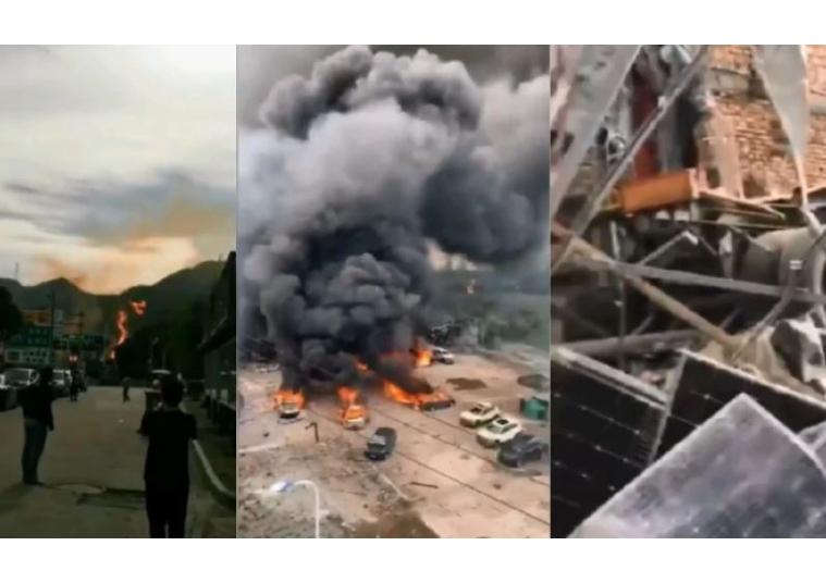Cina, esplosione in autostrada: almeno 10 morti e più di 100 feriti