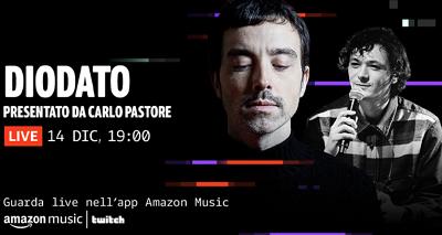 Il concerto di Kiana Ledé domani in streaming su Twitch. Diodato ospite della prossima Amazon Music Session il 14 dicembre