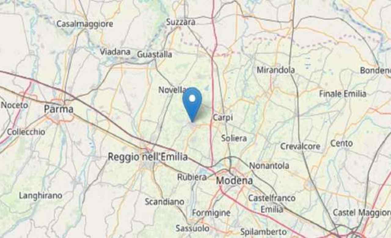 Terremoto oggi : due scosse tra Reggio Emilia e Parma