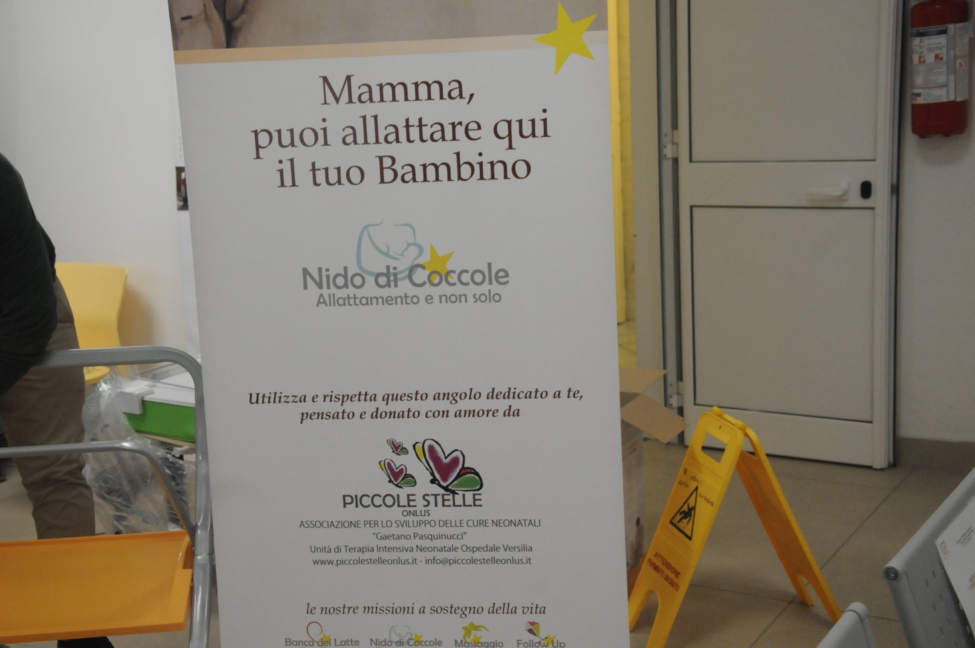 Inaugurato  il baby pit stop Nido di coccole donato dall