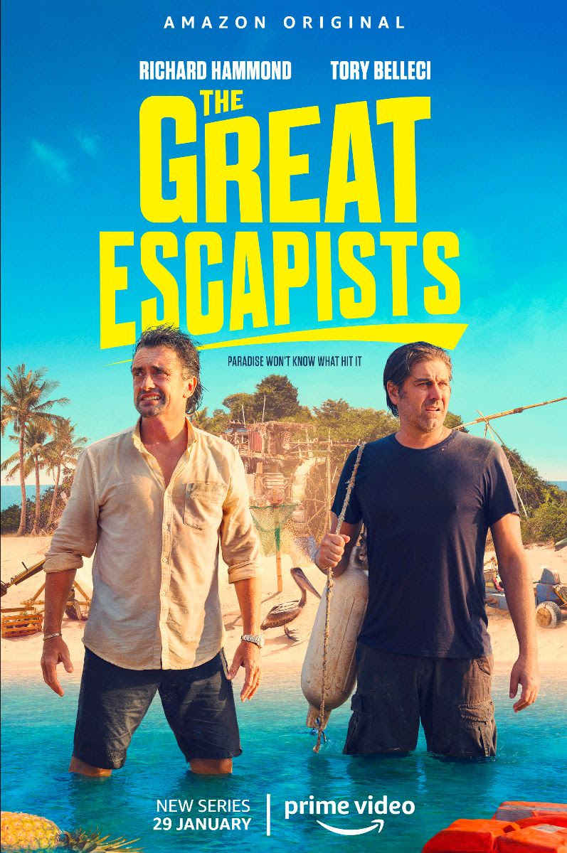 THE GREAT ESCAPISTS  : AMAZON PRIME VIDEO SVELA LA NUOVA SERIE CON RICHARD HAMMOND E TORY BELLECI…
