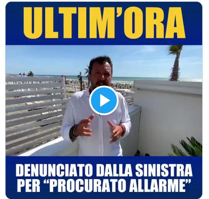 Matteo Salvini non ci crede : denunciato dal sig. Faraone!