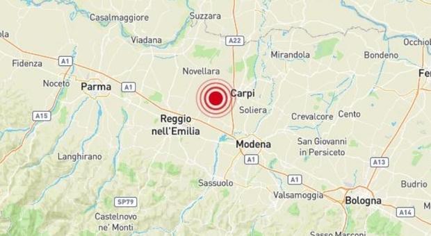 Terremoto in Emilia Romagna: scossa magnitudo 3.4 a Correggio