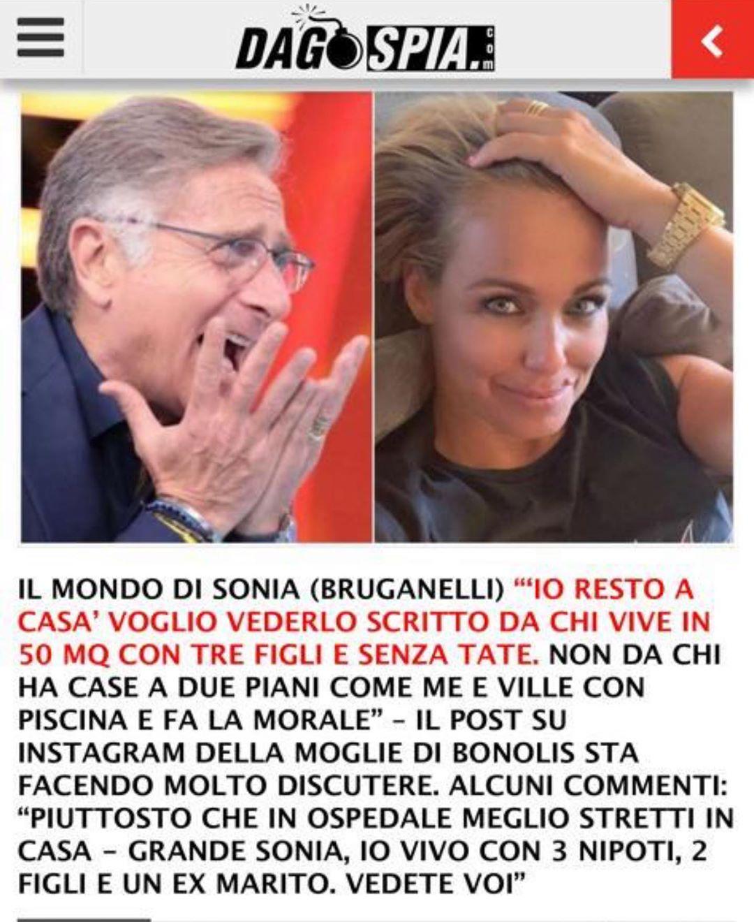 Sonia Bruganelli attacca i Vip che dicono di restare a casa... facile a farlo con villa e piscina