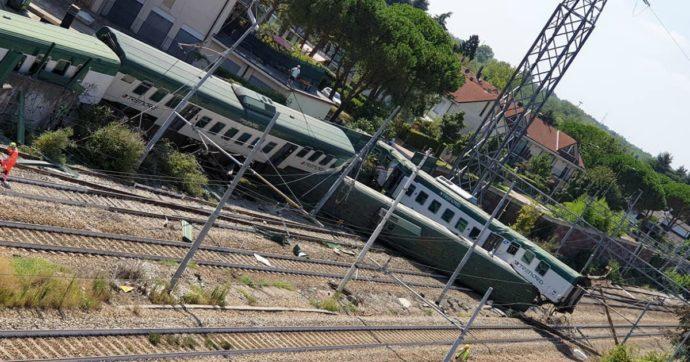 Treno deraglia a Carnate: feriti 2 macchinisti e l