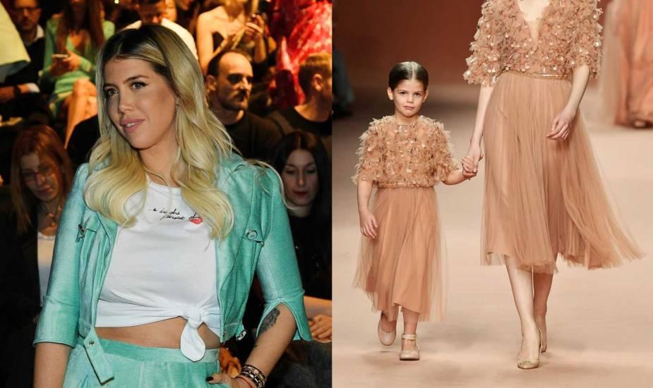 La figlia di Wanda Nara alla Fashion Week a soli 5 anni