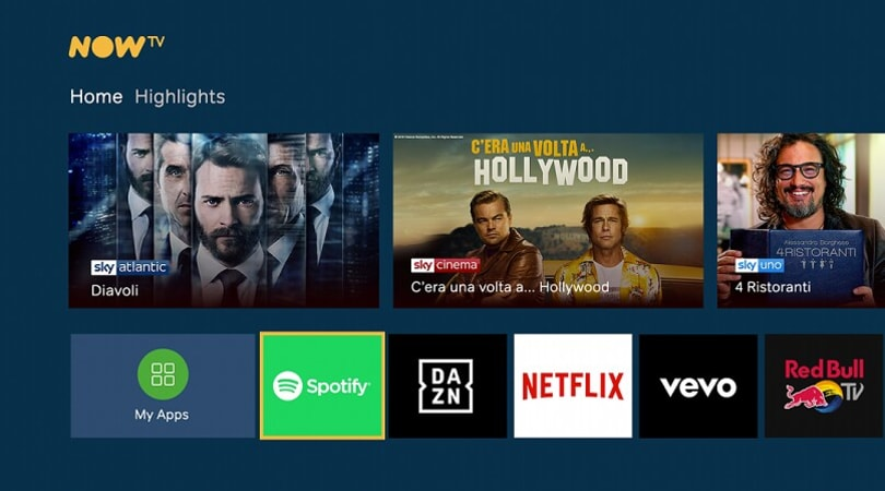 Amazon e Sky insieme : NOW TV sarà disponibile su Fire TV