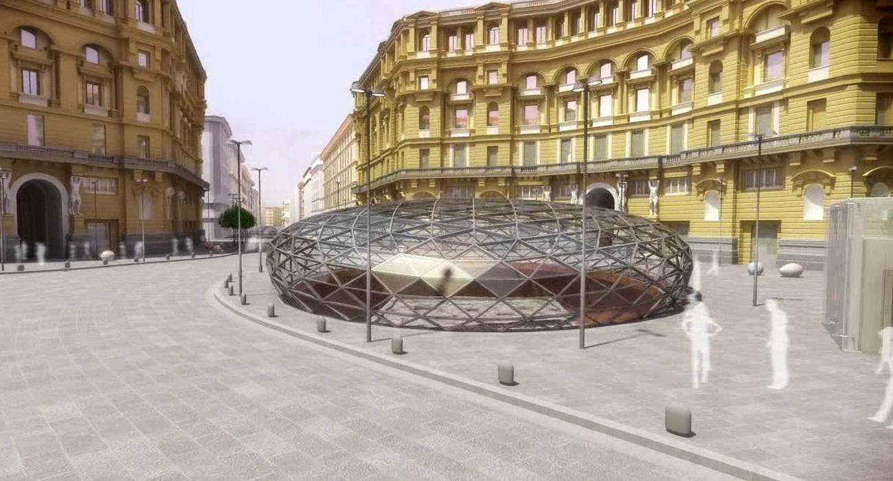 Stazione Duomo a Napoli : Una passeggiata nello spazio