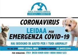 CORONAVIRUS, DA DOMENICA 6 AL 19 DICEMBRE BASTANO UN SMS O UNA CHIAMATA AL 45590 PER SOSTENERE LEIDAA PER EMERGENZA COVID-19
