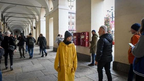 Greta Thunberg : Felice di essere qui, Torino è una città stupenda