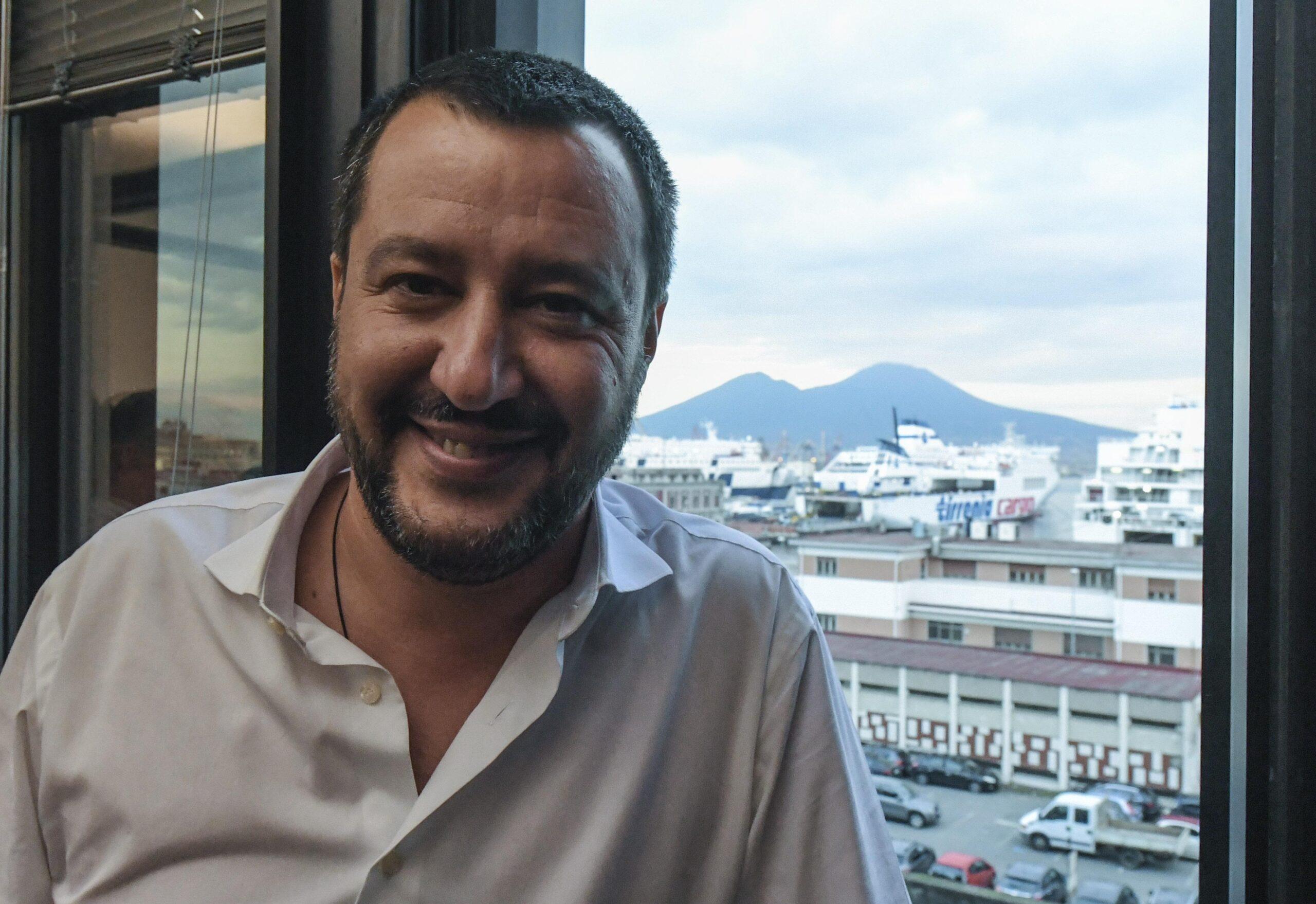 Matteo Salvini in Campania il 5 giugno sul luogo dov
