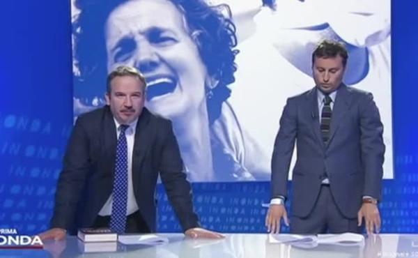 Vittorio Feltri a Parenzo e Telese : Complimenti, leccate benissimo il cu***