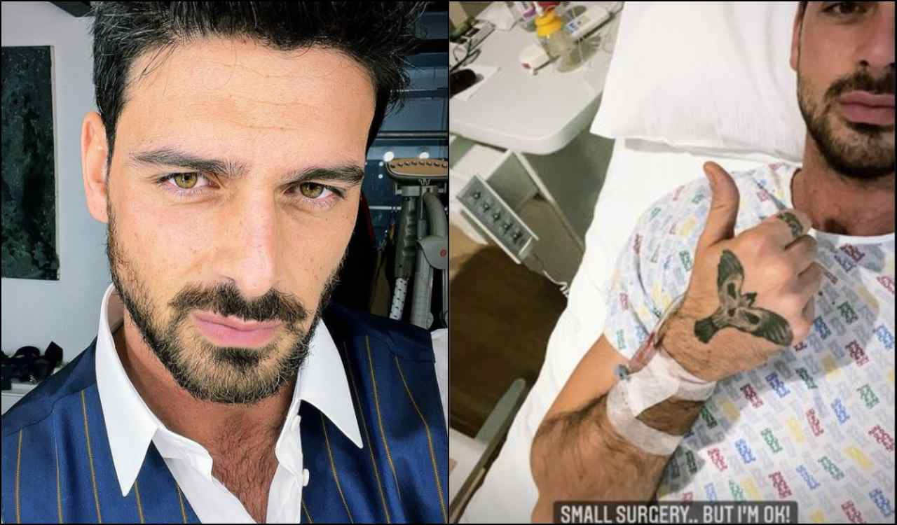 Michele Morrone in ospedale