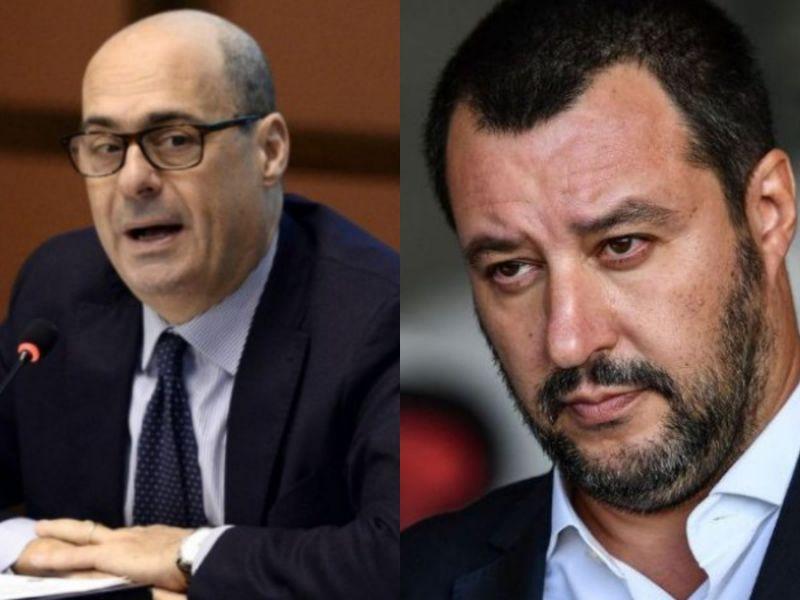 Un cret*no! Il leader della Lega Salvini contro Zingaretti del Pd
