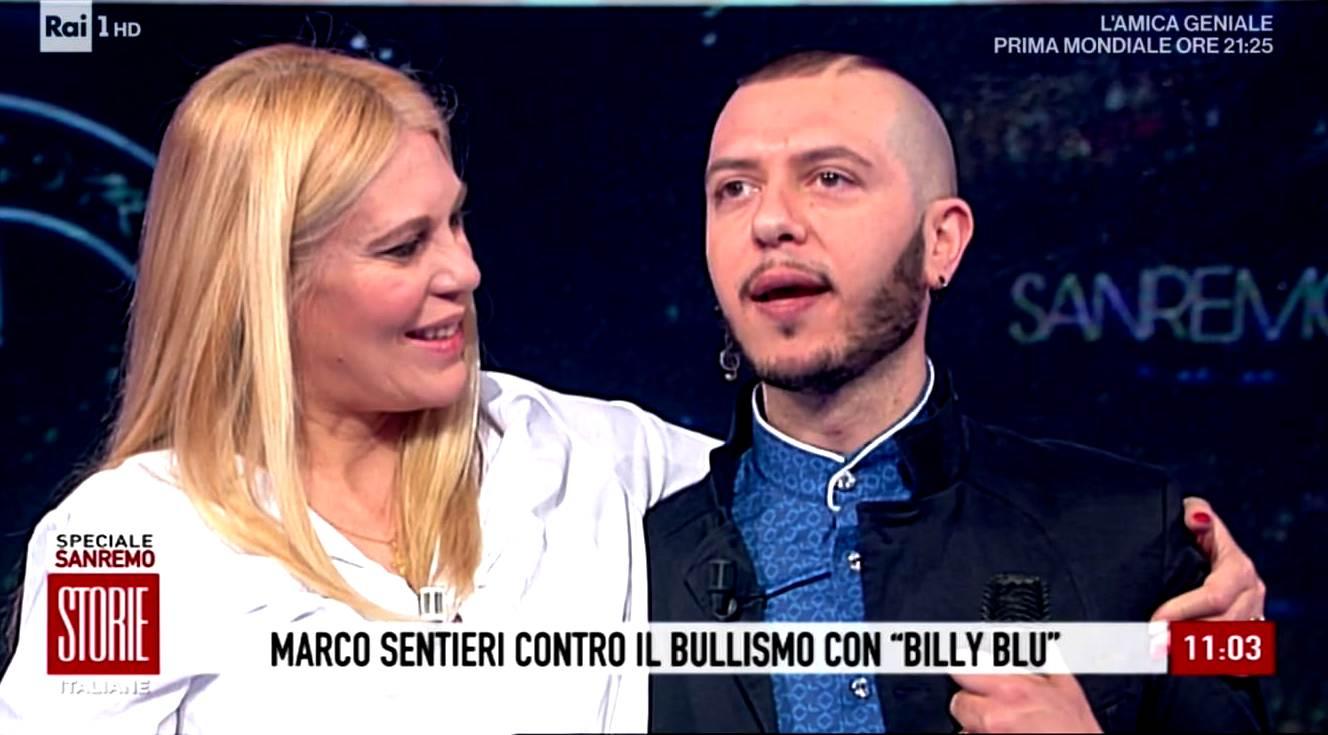 Sei il vincitore morale di Sanremo Giovani : Eleonora Daniele su Marco Sentieri a Storie Italiane