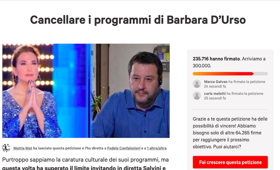 Cancellare i programmi di Barbara D'Urso : La petizione spopola sul web