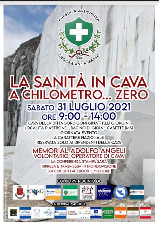 Sabato evento di prevenzione in una cava di marmo a Casette di Massa. Iniziativa della Croce Bianca